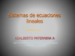 MATEMATICAS 9º