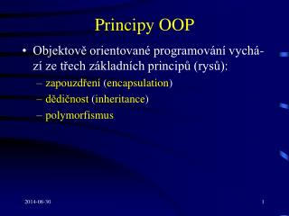 Principy OOP