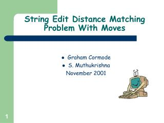String Edit Distance Matching Problem With Moves