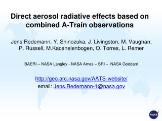 Direct aerosol radiative effects based on combined A-Train observations