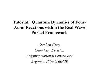 Tutorial:  Quantum Dynamics of Four-Atom Reactions within the Real Wave Packet Framework