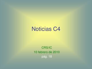 Noticias C4