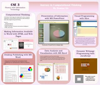 CSE 3 Fluency with Information Technology