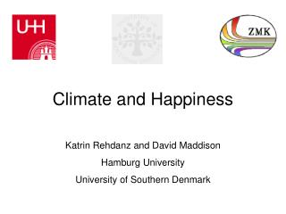 Climate and Happiness