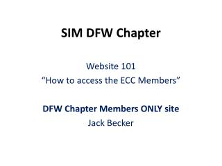 SIM DFW Chapter