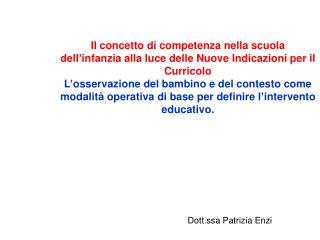 Dott.ssa Patrizia Enzi