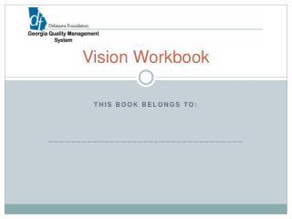 Vision Workbook