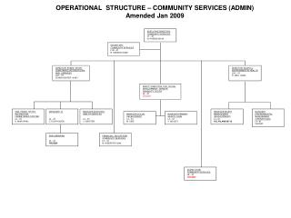 OPERATIONAL  STRUCTURE – COMMUNITY SERVICES (ADMIN) Amended Jan 2009