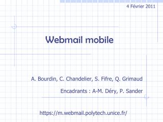 Webmail mobile