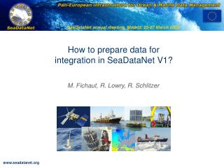 How to prepare data for integration in SeaDataNet V1?