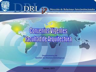 Convenios Vigentes Facultad de Arquitectura