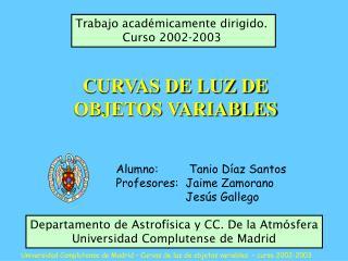 CURVAS DE LUZ DE OBJETOS VARIABLES