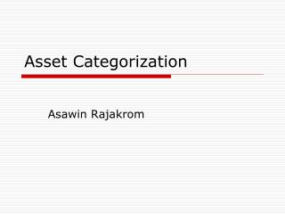 Asset Categorization