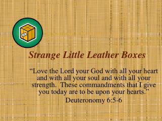Strange Little Leather Boxes