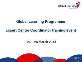 Global Learning Programme Expert Centre Coordinator training event
