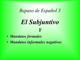 Repaso de Español 3