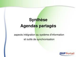 Synthèse  Agendas partagés