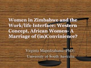 Women in Zimbabwe and the Work