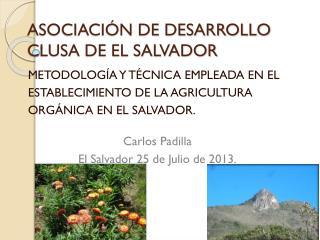 ASOCIACIÓN DE DESARROLLO CLUSA DE EL SALVADOR