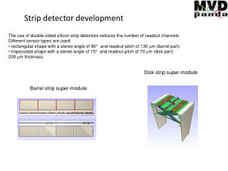 Strip detector development