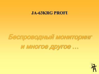 JA-63KRG PROFI