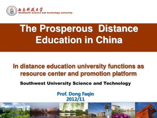 The Prosperous  Distance Education in China