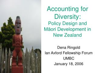 Accounting for Diversity:  Policy Design and M?ori Development in New Zealand