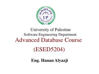 Advanced Database Course  (ESED5204)