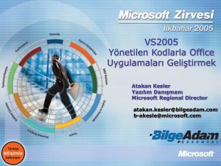 VS2005   Yönetilen Kodlarla Office Uygulamaları Geliştirmek