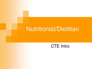 Nutritionist/Dietitian