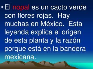 UNA LEYENDA MEXICANA