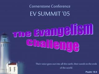 Cornerstone Conference  EV SUMMIT '05