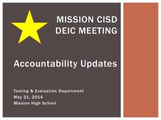 Mission CISD DEIC Meeting
