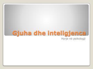 Gjuha dhe inteligjenca
