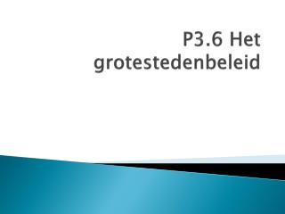 P3.6 Het grotestedenbeleid