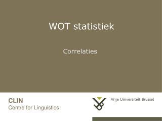 WOT statistiek