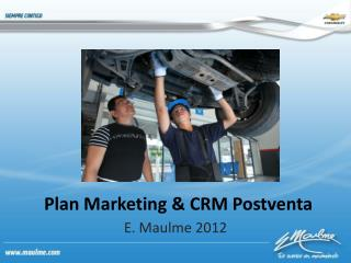 Plan Marketing & CRM Postventa