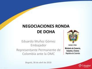NEGOCIACIONES RONDA  DE DOHA