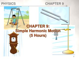 CHAPTER 9:  Simple Harmonic Motion (5 Hours)