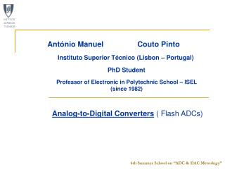 Analog-to-Digital Converters  ( Flash ADCs)