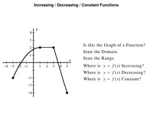Increasing / Decreasing / Constant Functions