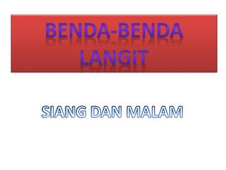 BENDA-BENDA LANGIT