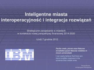 Inteligentne miasta interoperacyjność i integracja rozwiązań