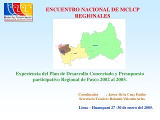 Lima – Huampani 27 -30 de enero del 2005.