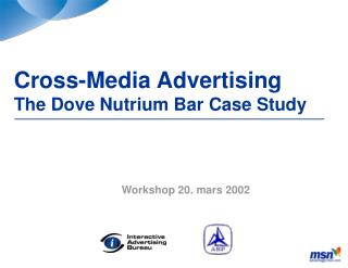 Cross-Media Advertising The Dove Nutrium Bar Case Study