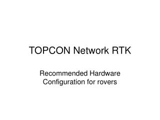 TOPCON Network RTK