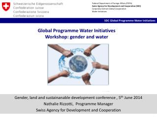 Global Programme Water Initiatives Workshop: gender and water