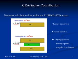 Neutronic calculations done within the EURISOL-RTD project