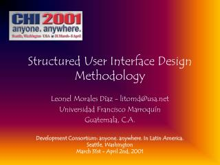 Structured User Interface Design Methodology