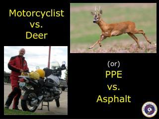 Motorcyclist vs. Deer